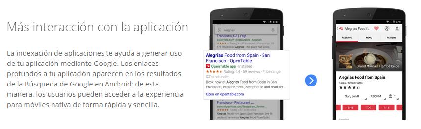 indexa las aplicaciones móviles