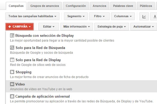 Google fusiona YouTube TrueView con AdWords1