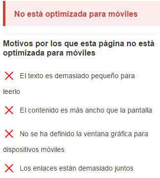 si tu web no está optimizada