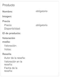 marcador de datos por categoría