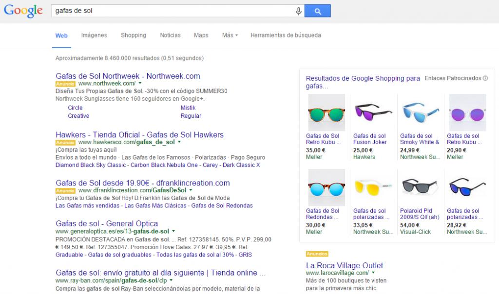 Anuncios Google Shopping para tiendas online