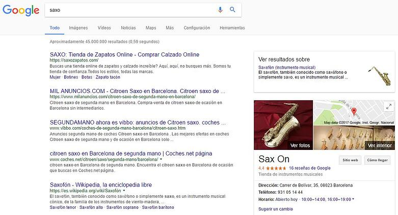 Una de las principales claves de la búsqueda semántica es que si no ofrecemos información concreta, los resultados tratarán de representar todo el espectro de búsqueda