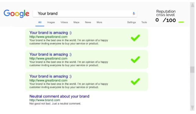Tras el uso de diferentes estrategias, los resultados positivos destacan sobre los negativos en una búsqueda sobre nuestra marca personal online