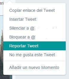 De igual forma que sucede con Facebook, Twitter facilita cómo tratar un caso de plagio en internet reportando un mal uso del contenido