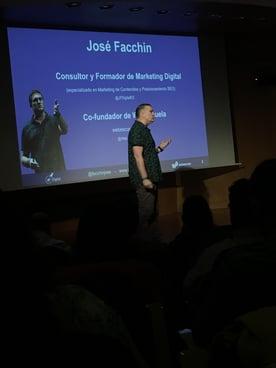 José Facchin dio muestras de su buen hacer en SEO con su presentación dentro del Inbound Leaders 18