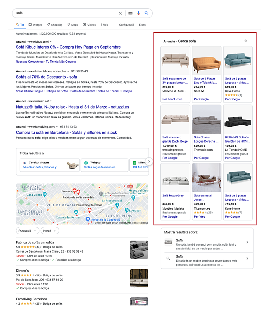Campañas de Google Shopping