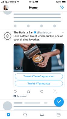 Funciones de anuncios de Twitter