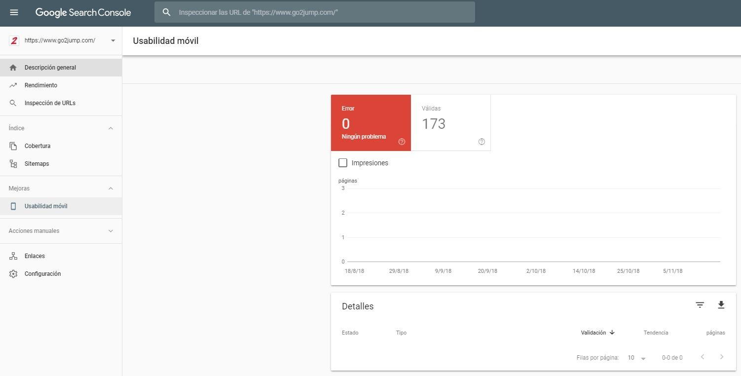 En Google Search Control podrás saber las afectaciones de tu página con la nueva actualización Mobile First Index