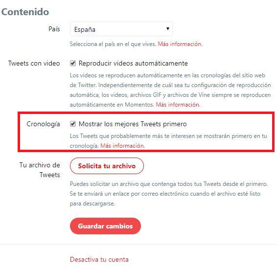 Algoritmo de las redes sociales: cómo configurar la aparición de tweets