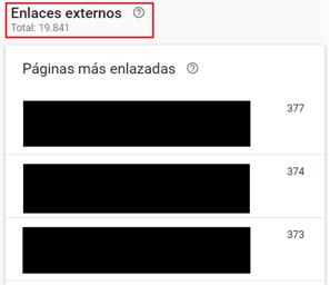 enlaces externos Google Search Console