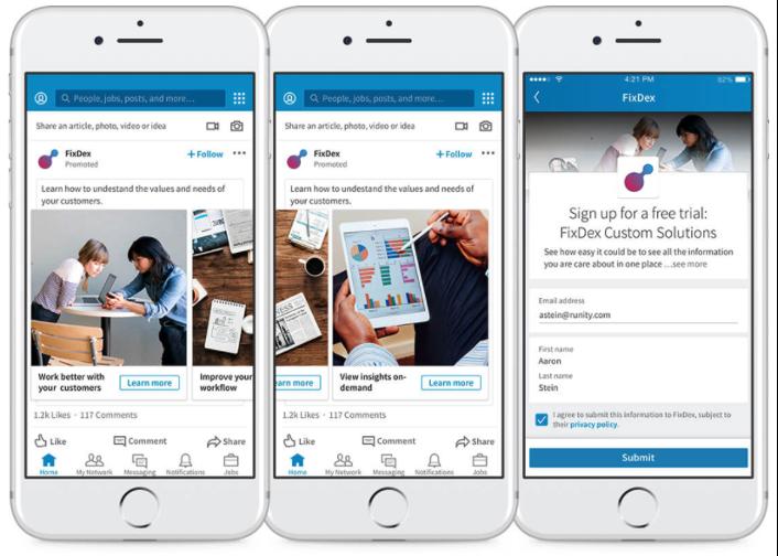 hacer publicidad de pago en LinkedIn