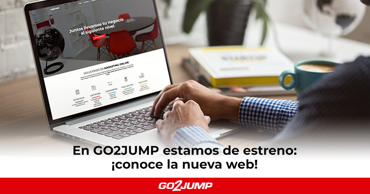 Nueva web de GO2JUMP: servicios de marketing online en Barcelona
